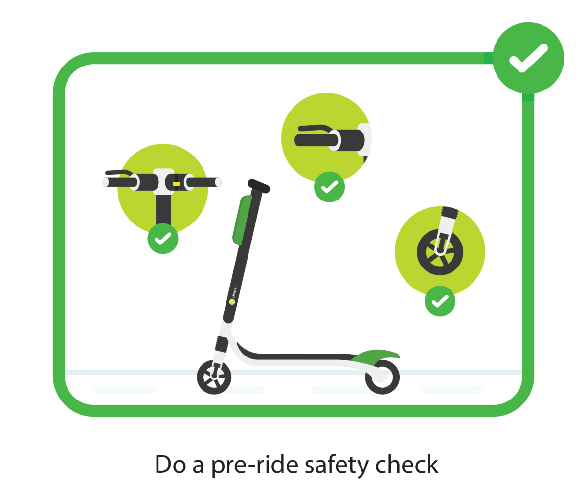 Do a pre-ride safety check before using electric scooters