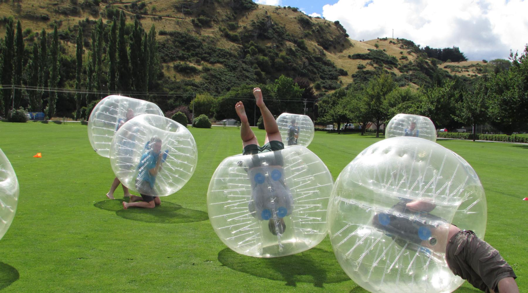 Bubble Soccer at The Playground