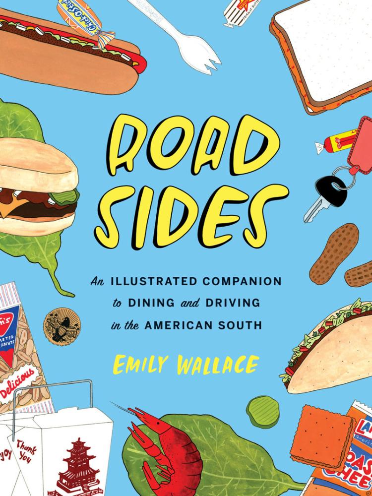 Cover of a Book Illustrated with Cartoon Food Drawings.