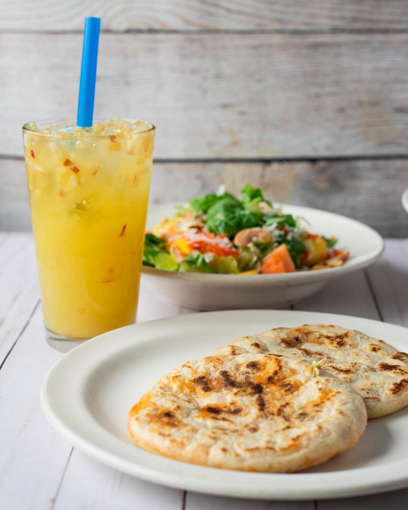 Cafe Platano Pupusa Plate Photo