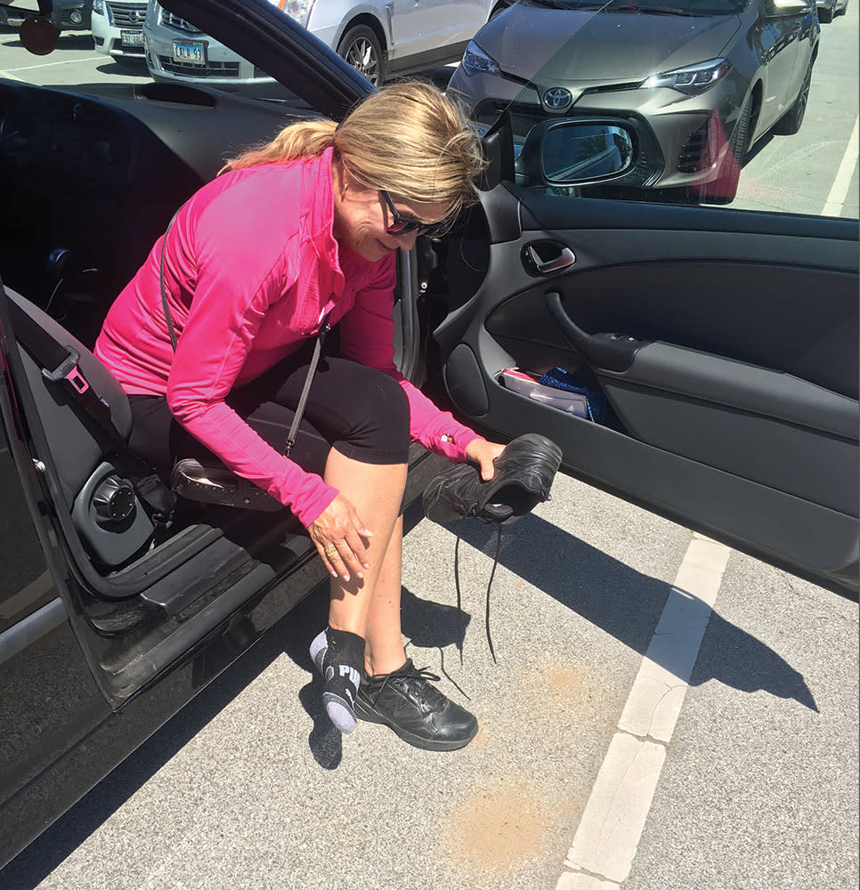 Haley Collins Succession Trail sand in shoes