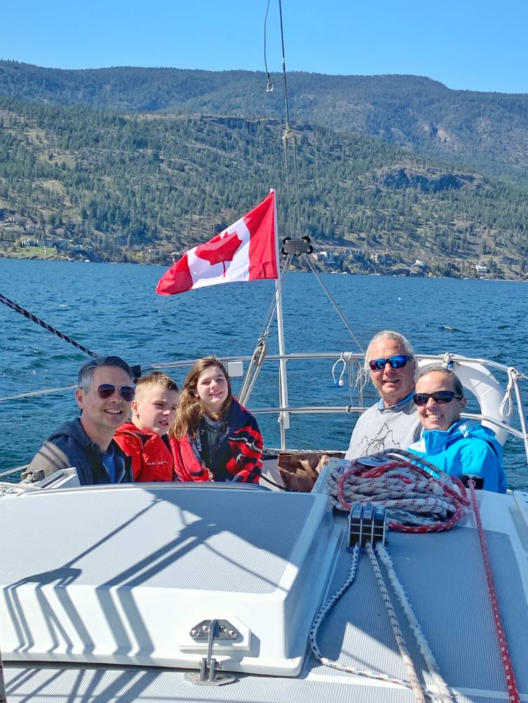 Lisa's family on Sailing Tour