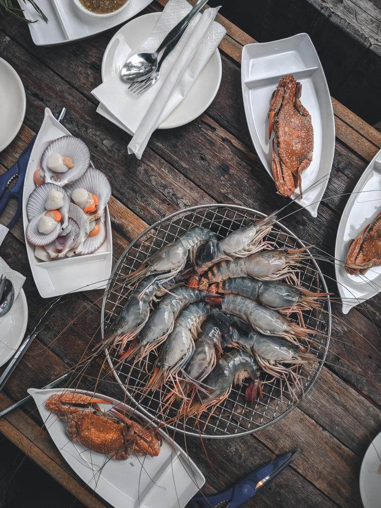Seafood Flatlay