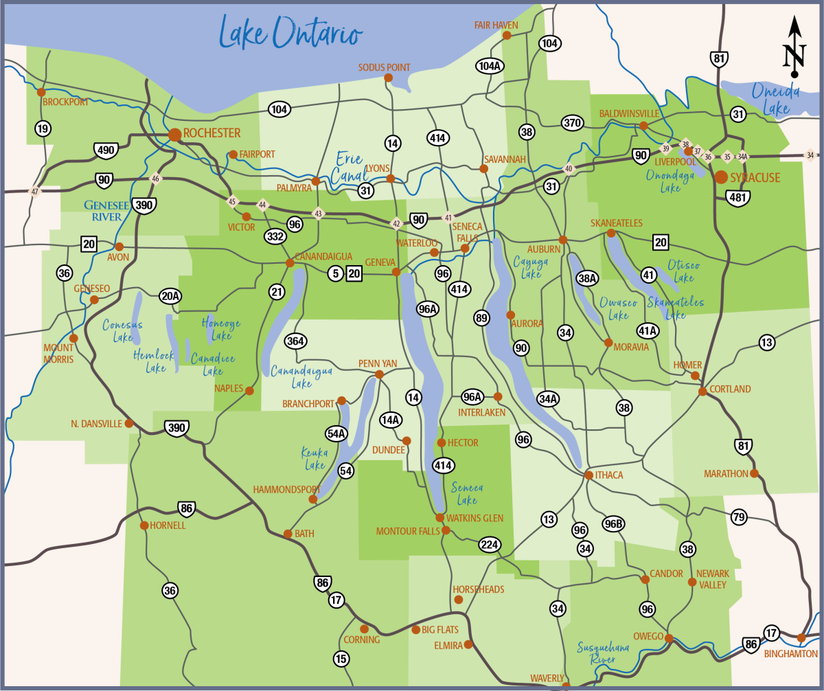 Finger Lakes Map