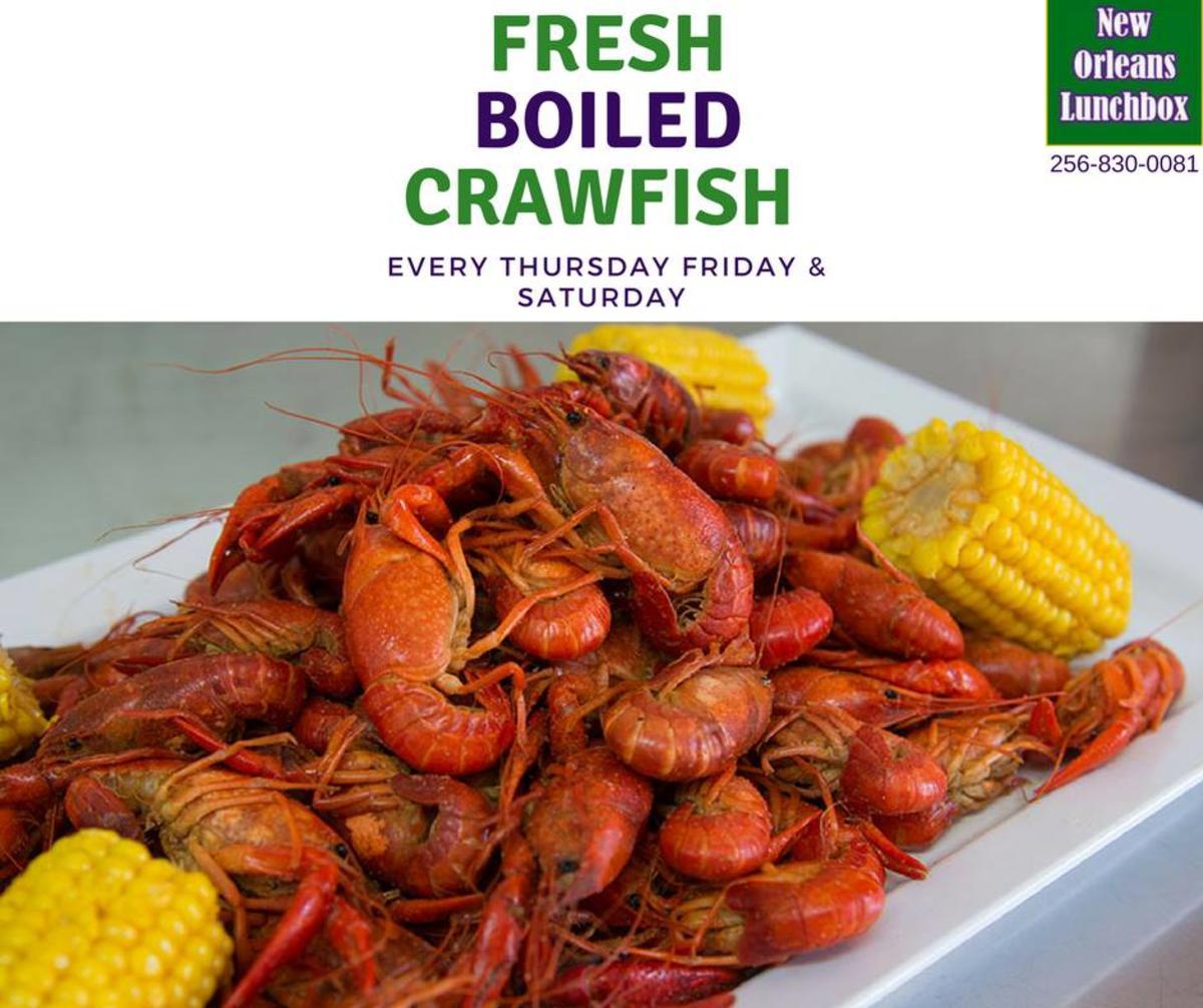 Crawfish boil at New Orleans Lunchbox in Huntsville, AL