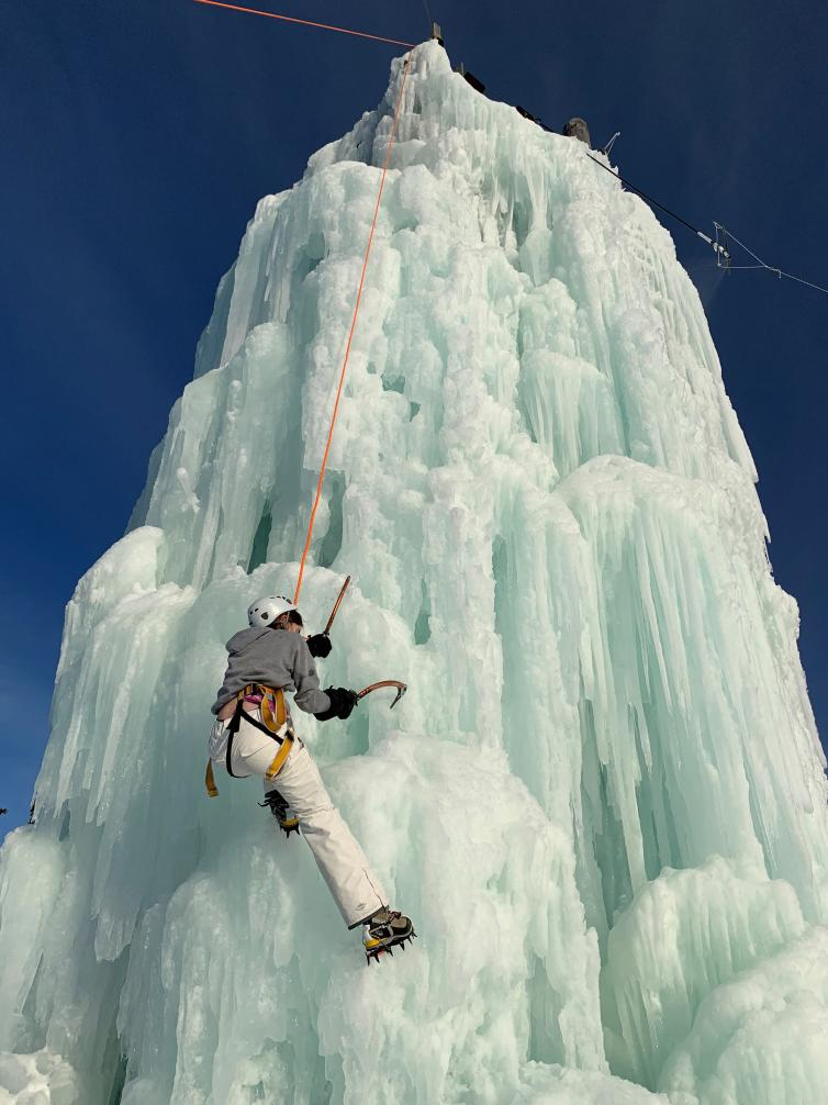 Ice Climbing at Big White