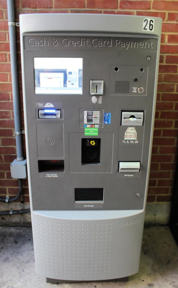 Parking Garage Ticket Pay Station