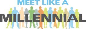 Meet like a millennial logo