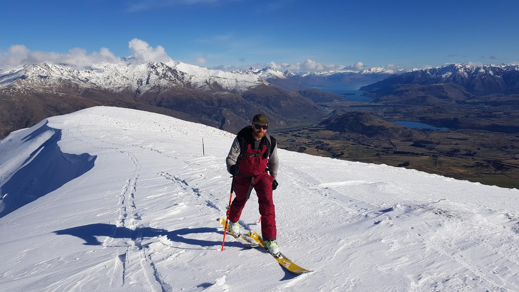 Russ Wilson on Crown Peak, Shot by Alan Swann