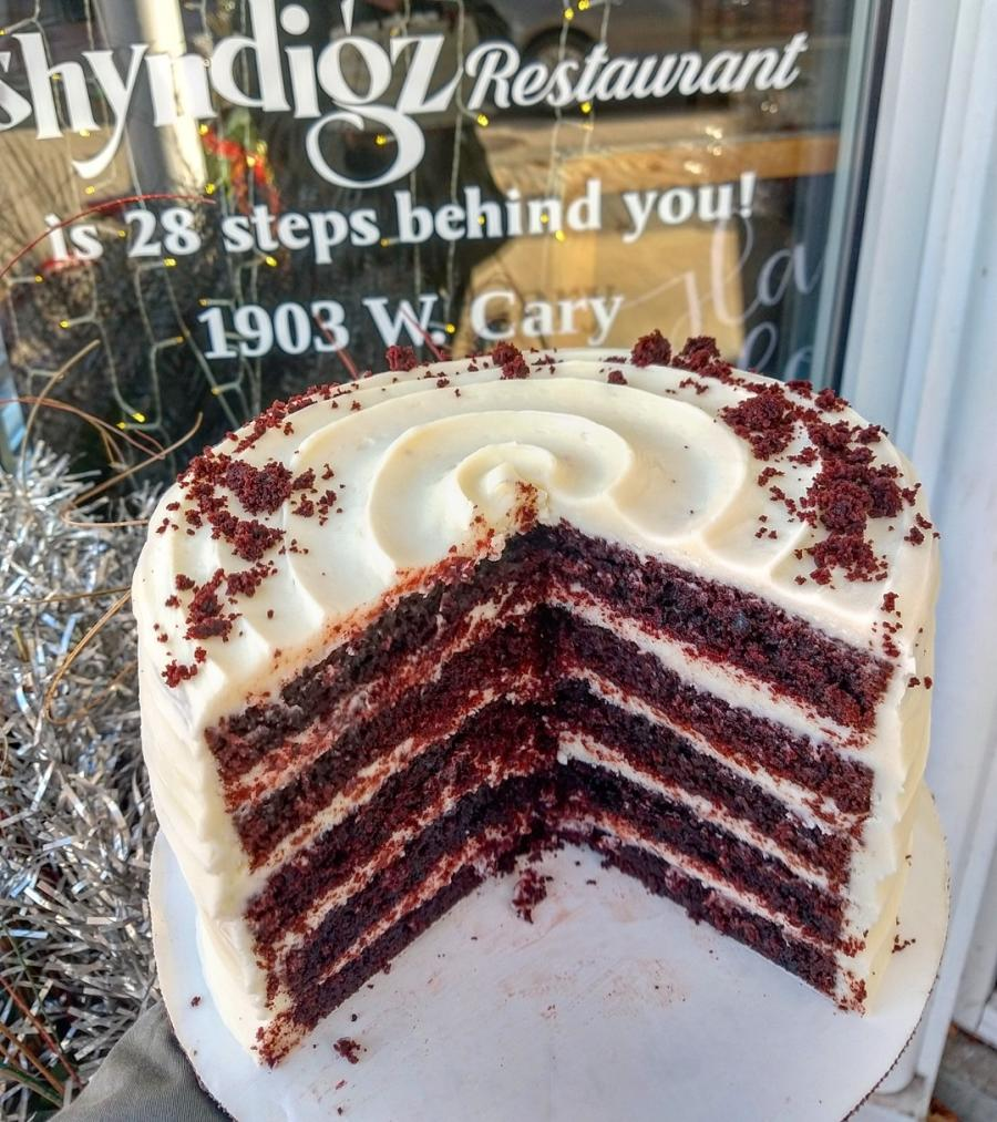Shyndigz red velvet cake