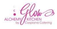 Glow Alchemy Kitchen by Caspiana Catering logo