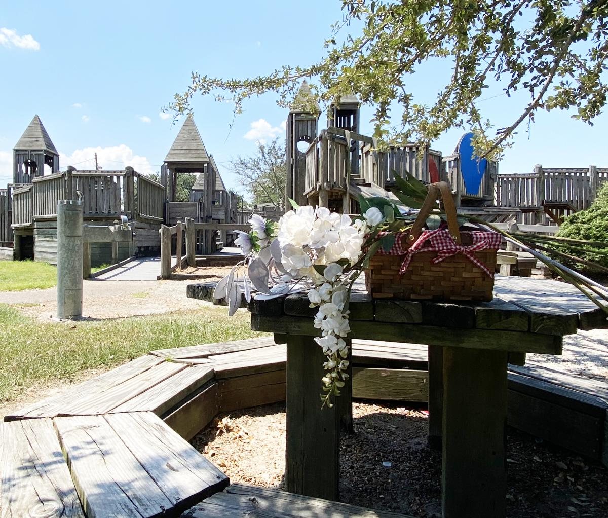 The playground at Central Park in Beaumont is the perfect picnic spot for families with children.
