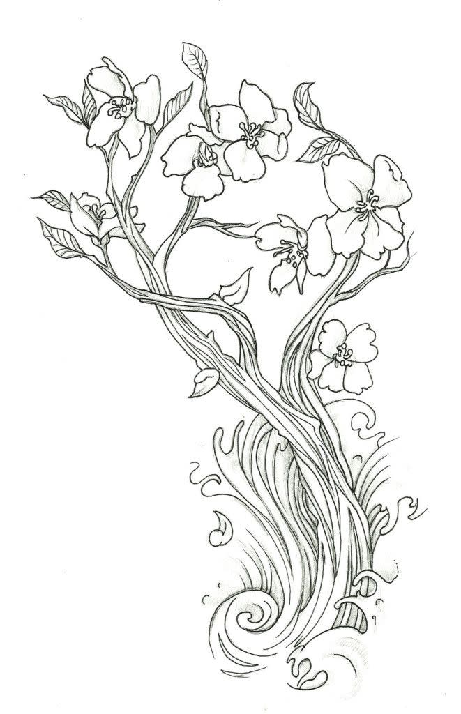 Cherry Blossom Coloring Page 5
