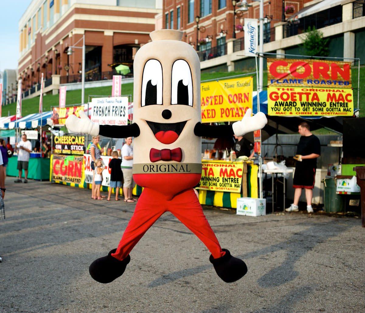 Mister Goetta Jumping at Goetta Fest