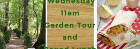 Wednesday 11 am Guided Garden Tour and Boxed Lunch @ Liberty Hall