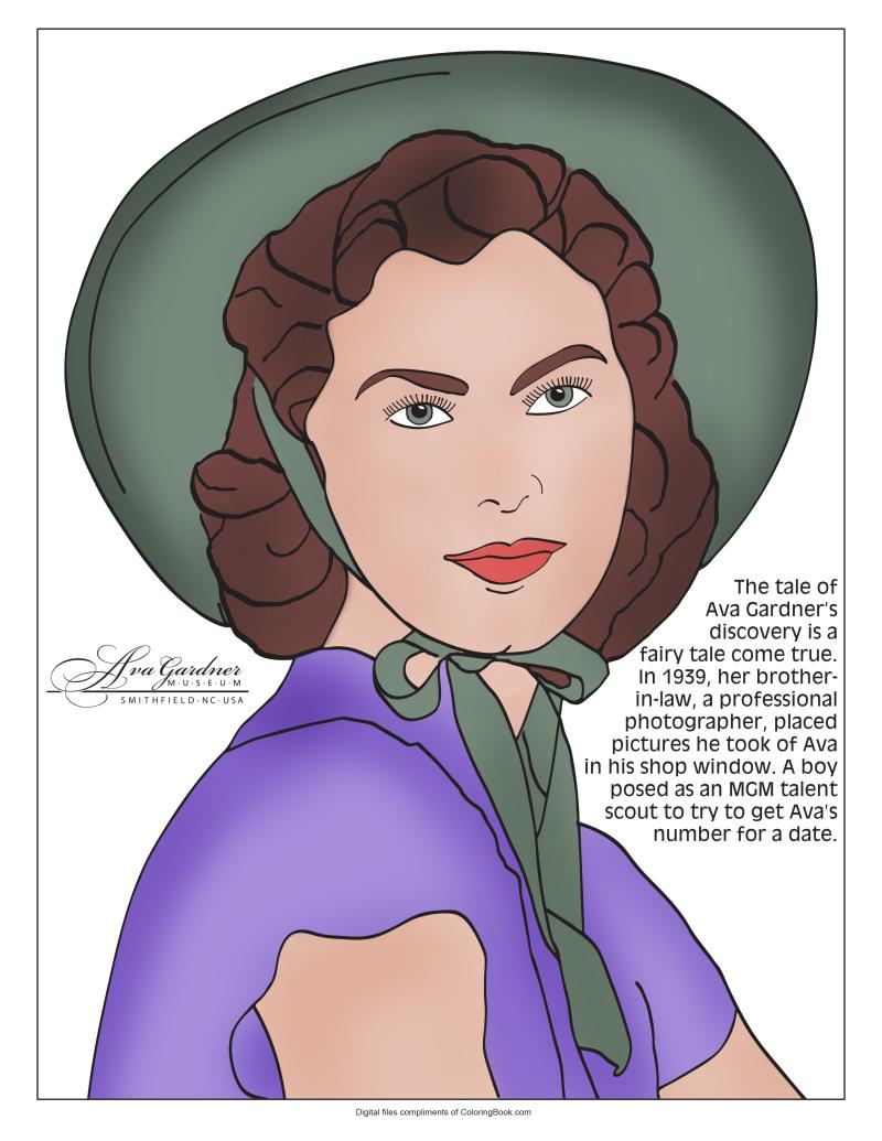 Cover of Ava Gardner Coloring Book