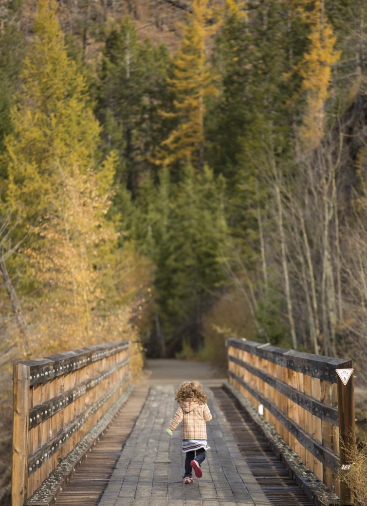 Little Girl Running on the Trestles