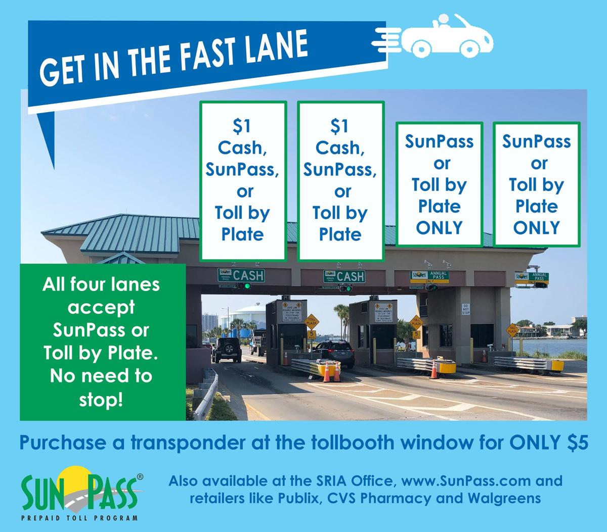 Sun Pass Toll Booth Information