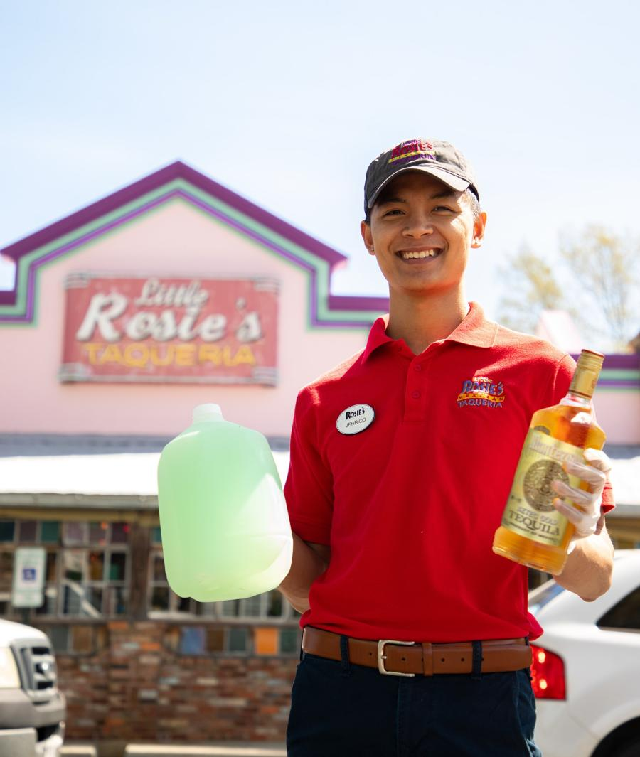 Margaritas to go at Little Rosie's in Huntsville