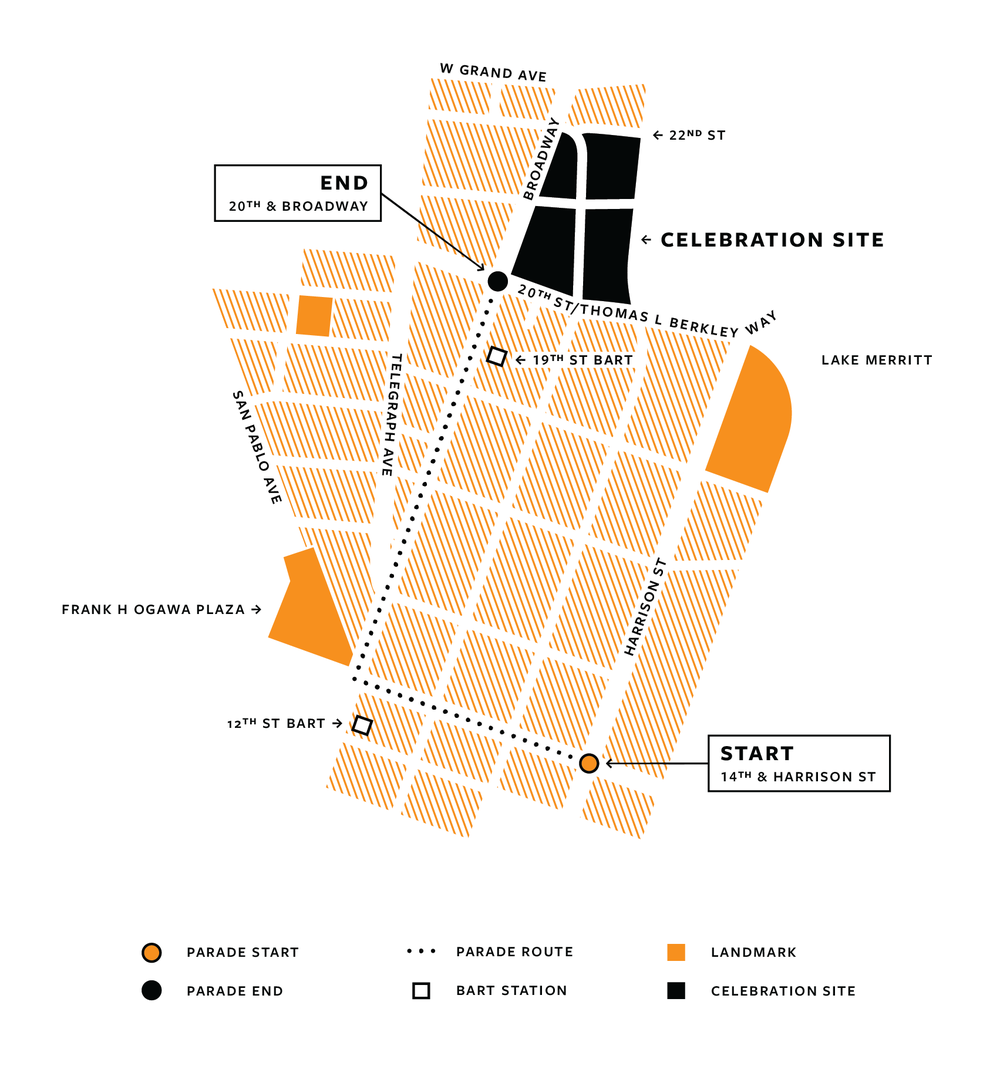 Black Joy Parade Map