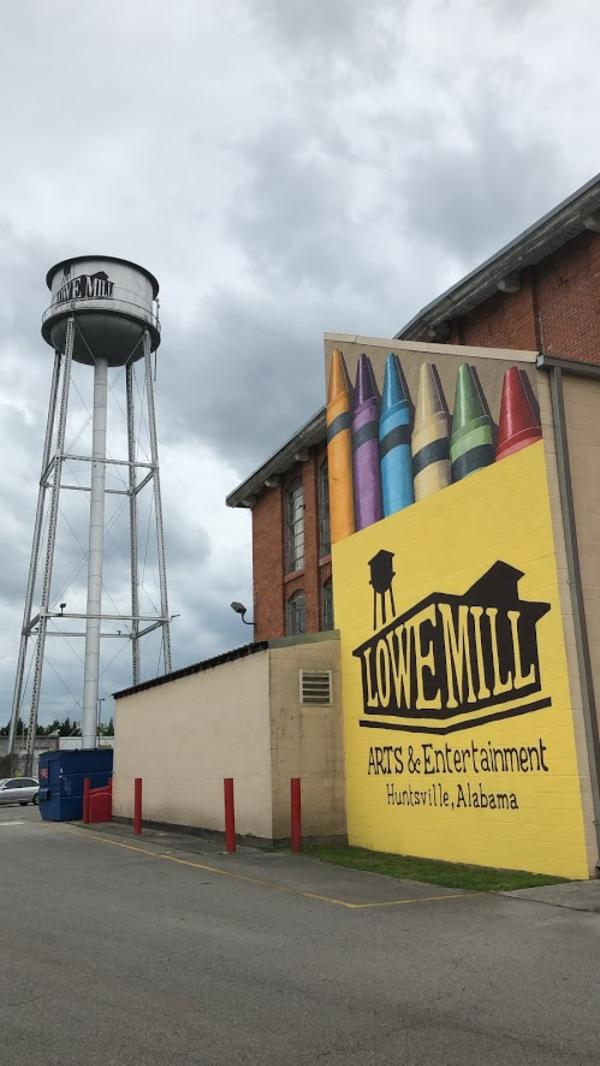 Lowe Mill Crayons Mural and Water tower
