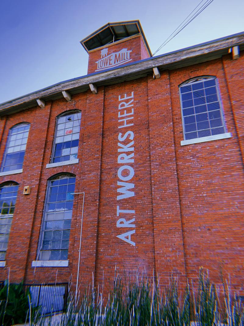 Exterior view of the Lowe Mill A&E building in Huntsville, AL
