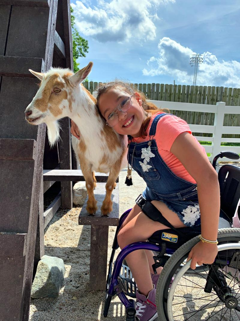 Columbian Park Zoo - Girl & Goat
