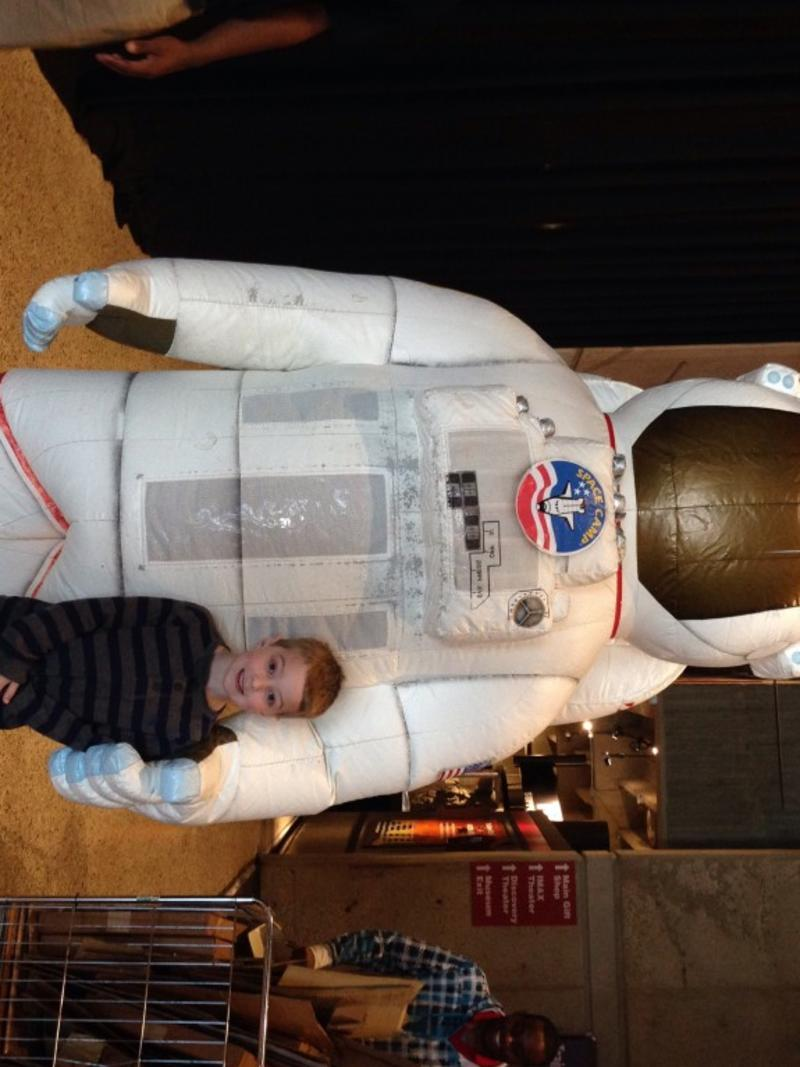TOPPS the astronaut at the U.S. Space & Rocket Center