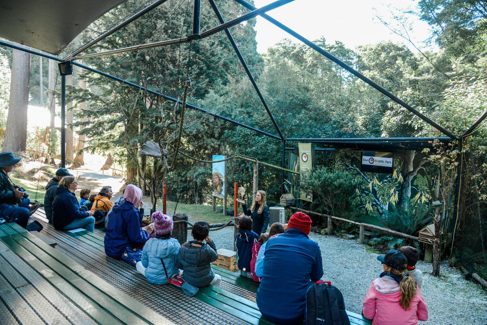 Conservation show at Kiwi Birdlife Park