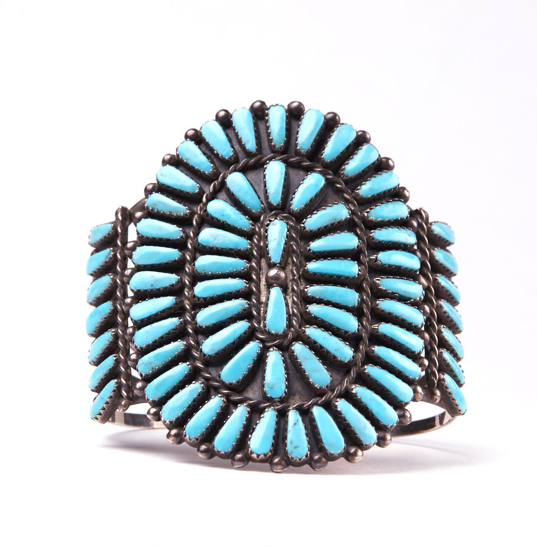 A turquoise cuff