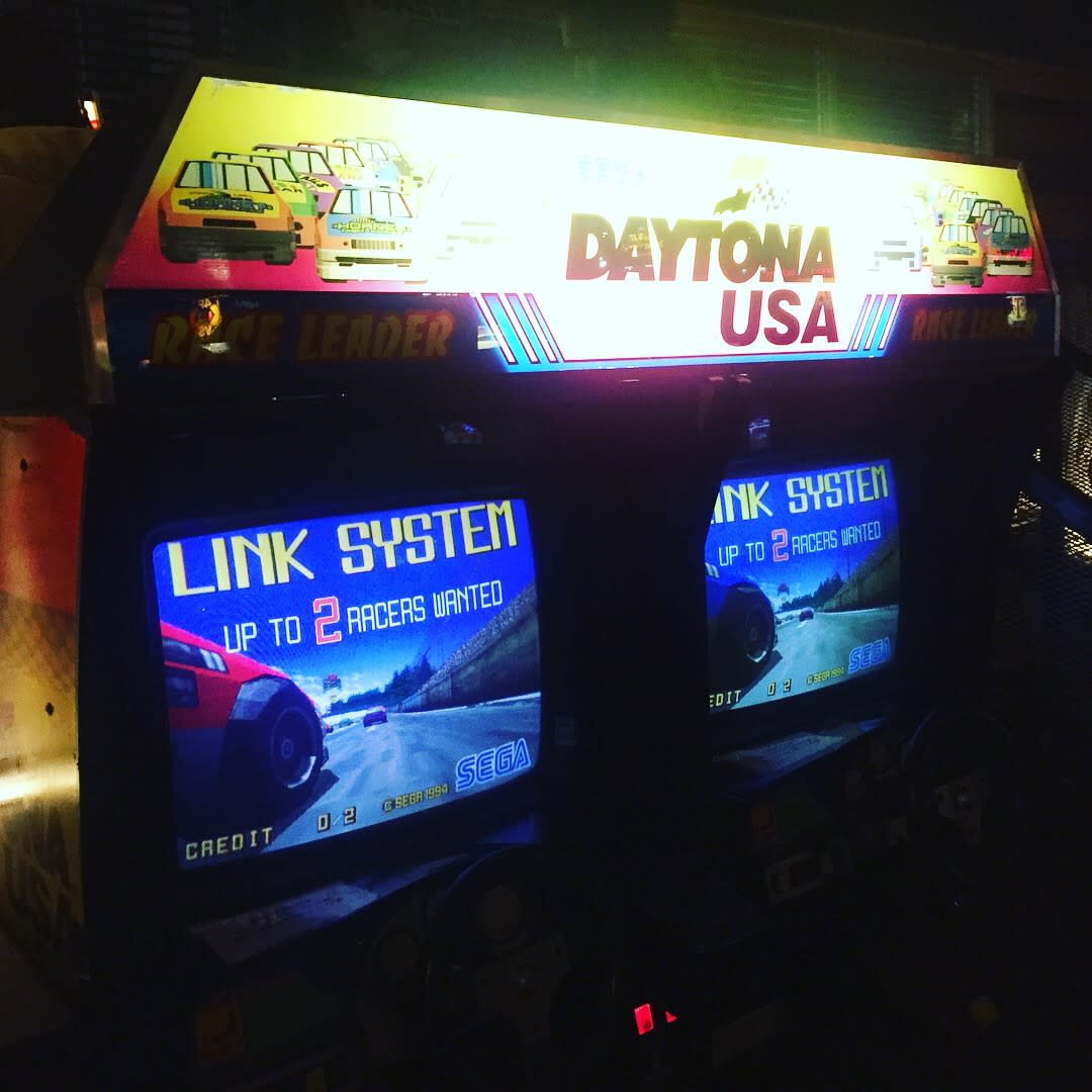 Daytona USA game at Barcade in Newark, NJ