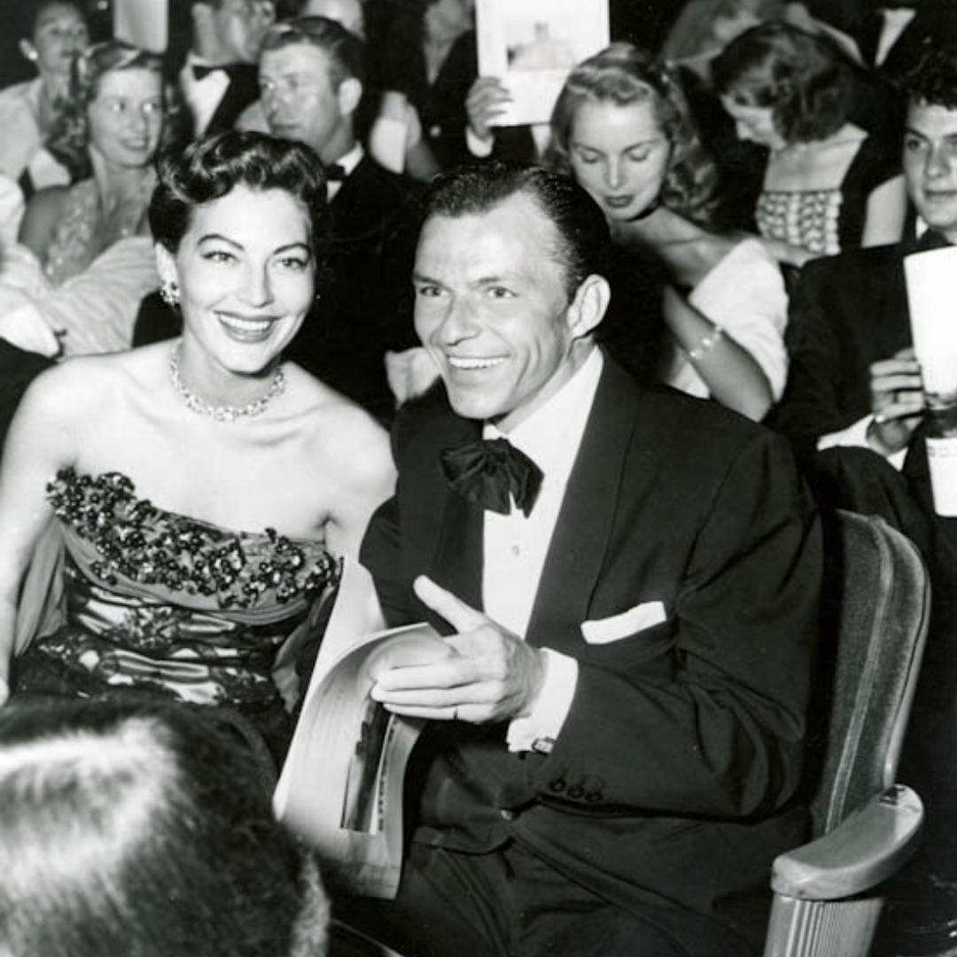 Ava Gardner and Frank Sinatra at the Show Boat premiere.