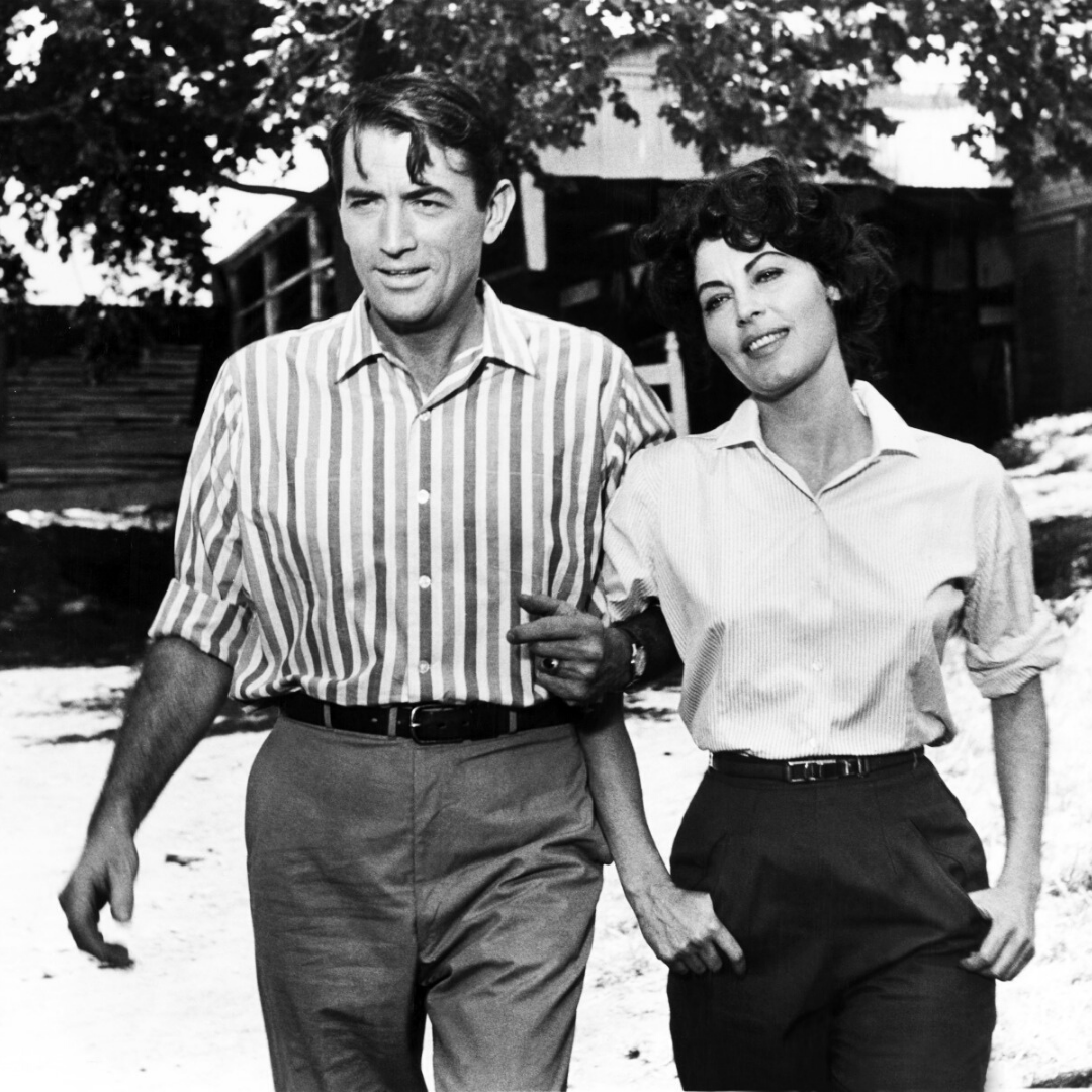 Ava Gardner stars in On the Beach with Gregory Peck.