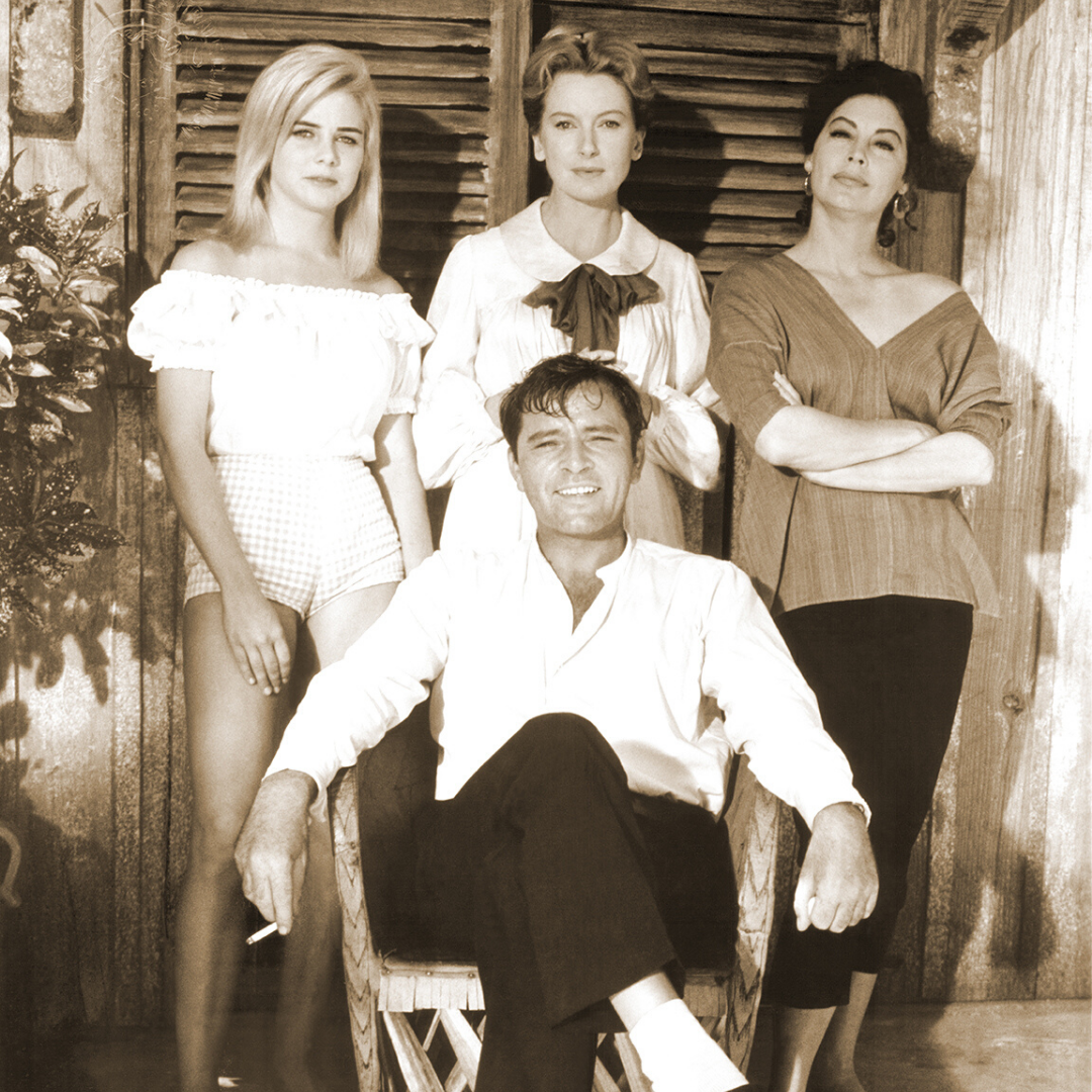 Ava Gardner and the cast of The Night of the Iguana.