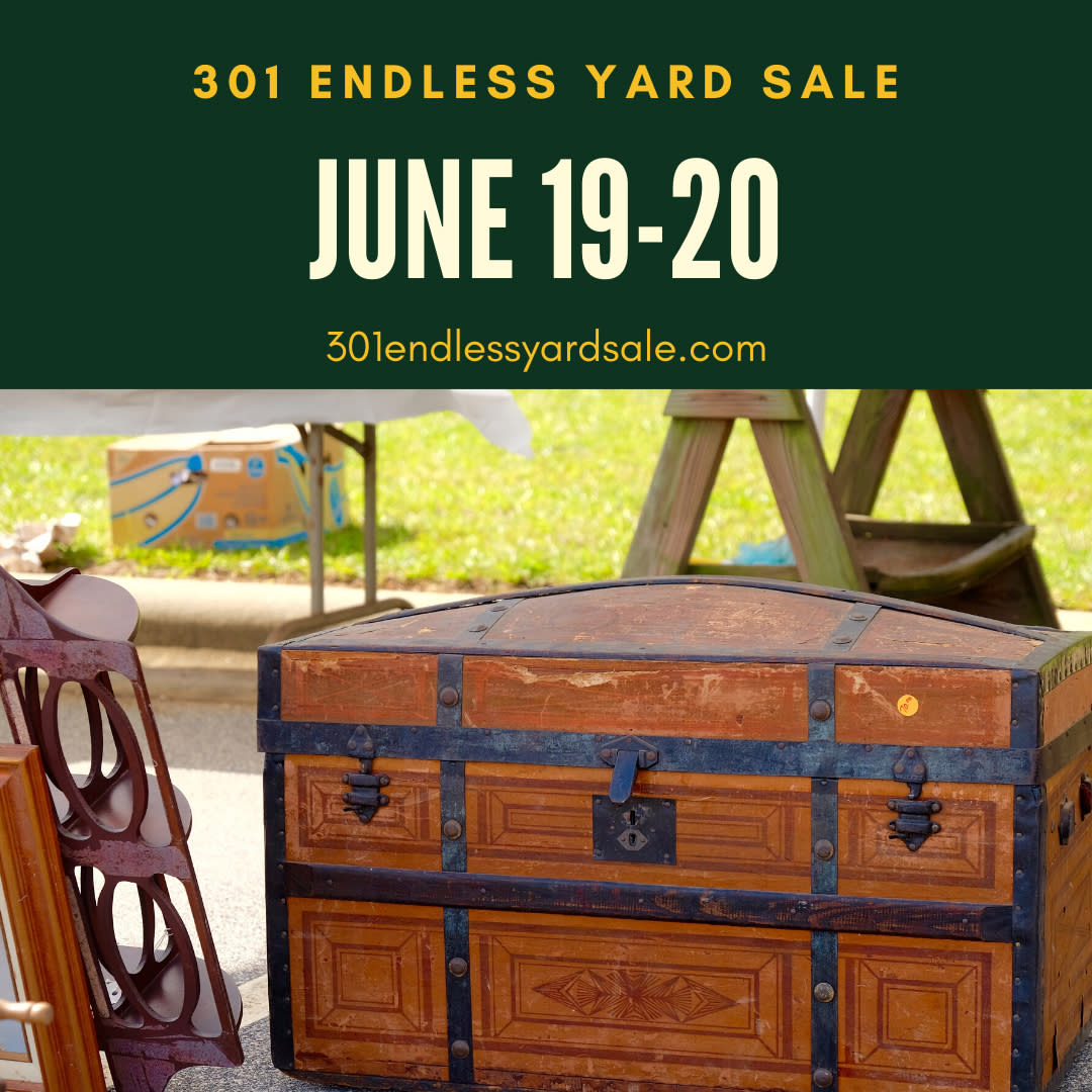 301 Endless Yard Sale digital ad for the June 19-20, 2020 sale.