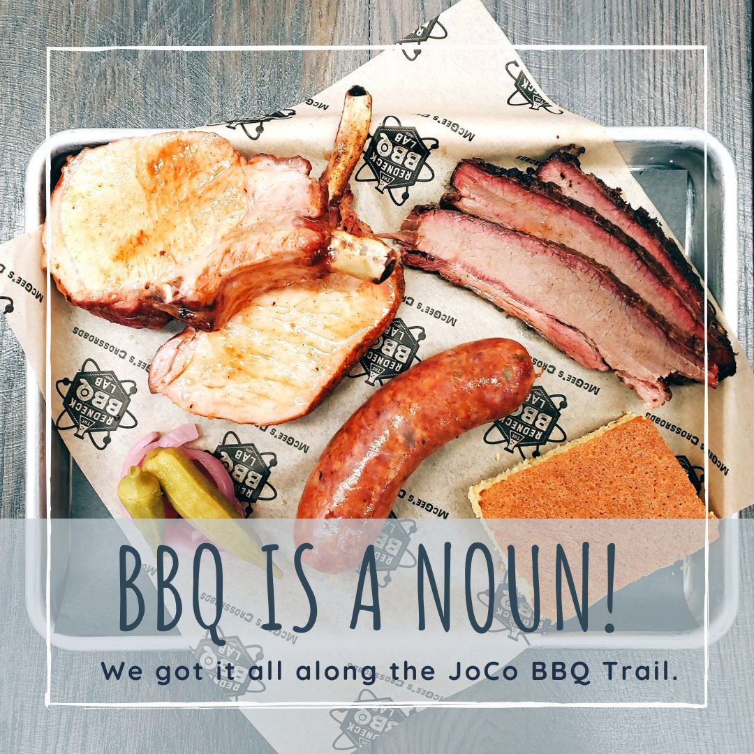 BBQ is a noun in Johnston County, NC, where visitors find great food options on the BBQ Trail.