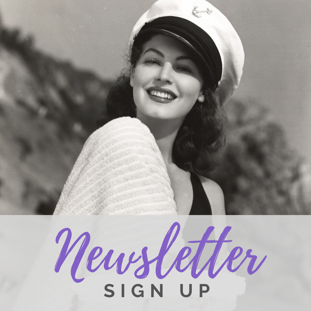 Ava Gardner Museum newsletter sign up banner.