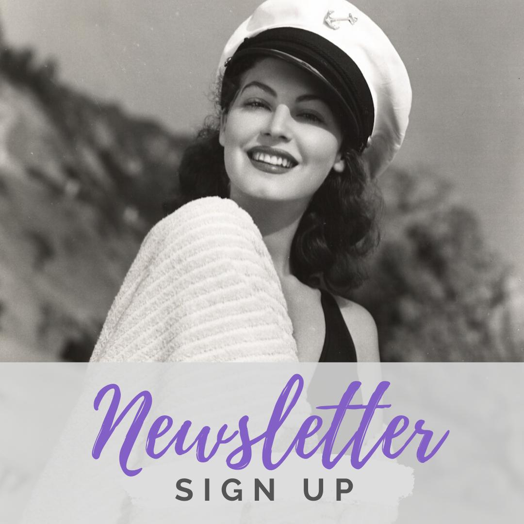 Ava Gardner Museum newsletter sign up banner.