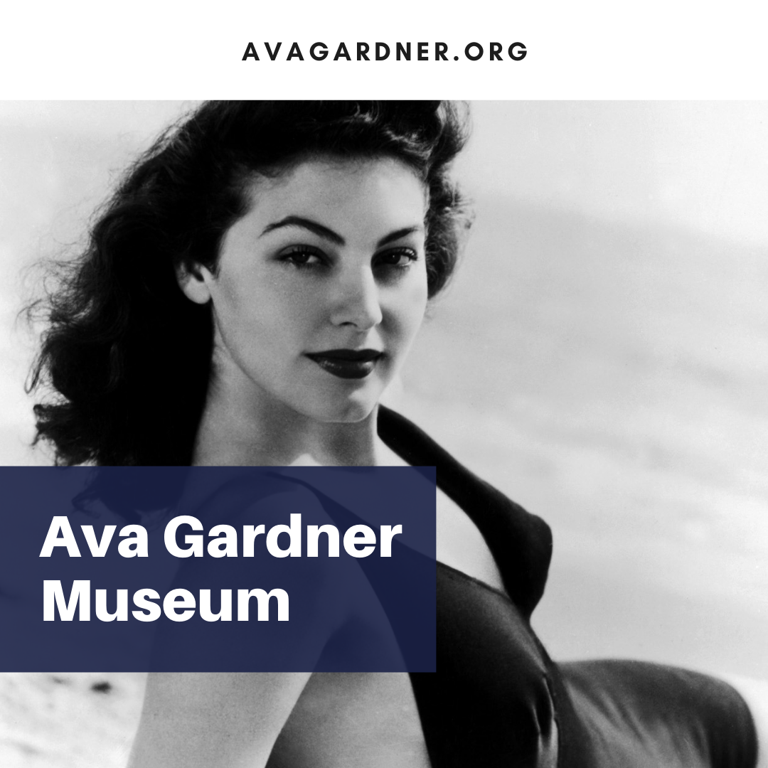 Ava Gardner Museum Banner Ad promoting visiting the museum in Smithfield, NC.