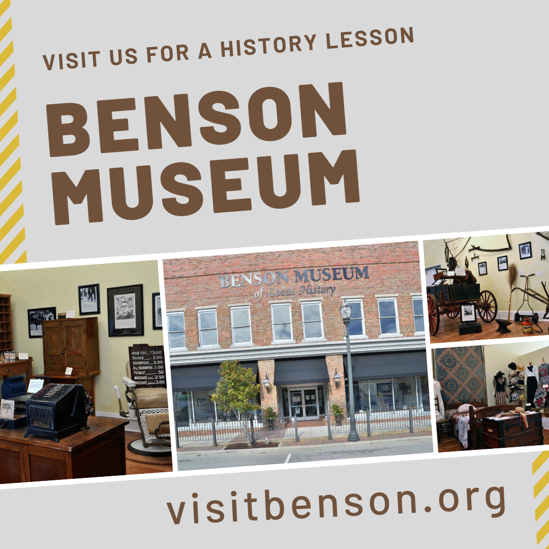Benson Museum of Local History is located in downtown Benson, NC.