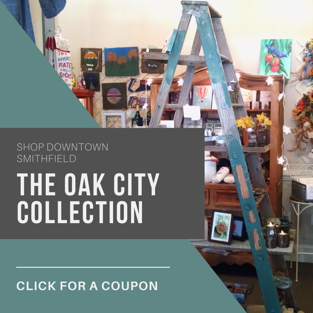 The Oak City Collection is a fun shopping experience in Downtown Smithfield, NC.