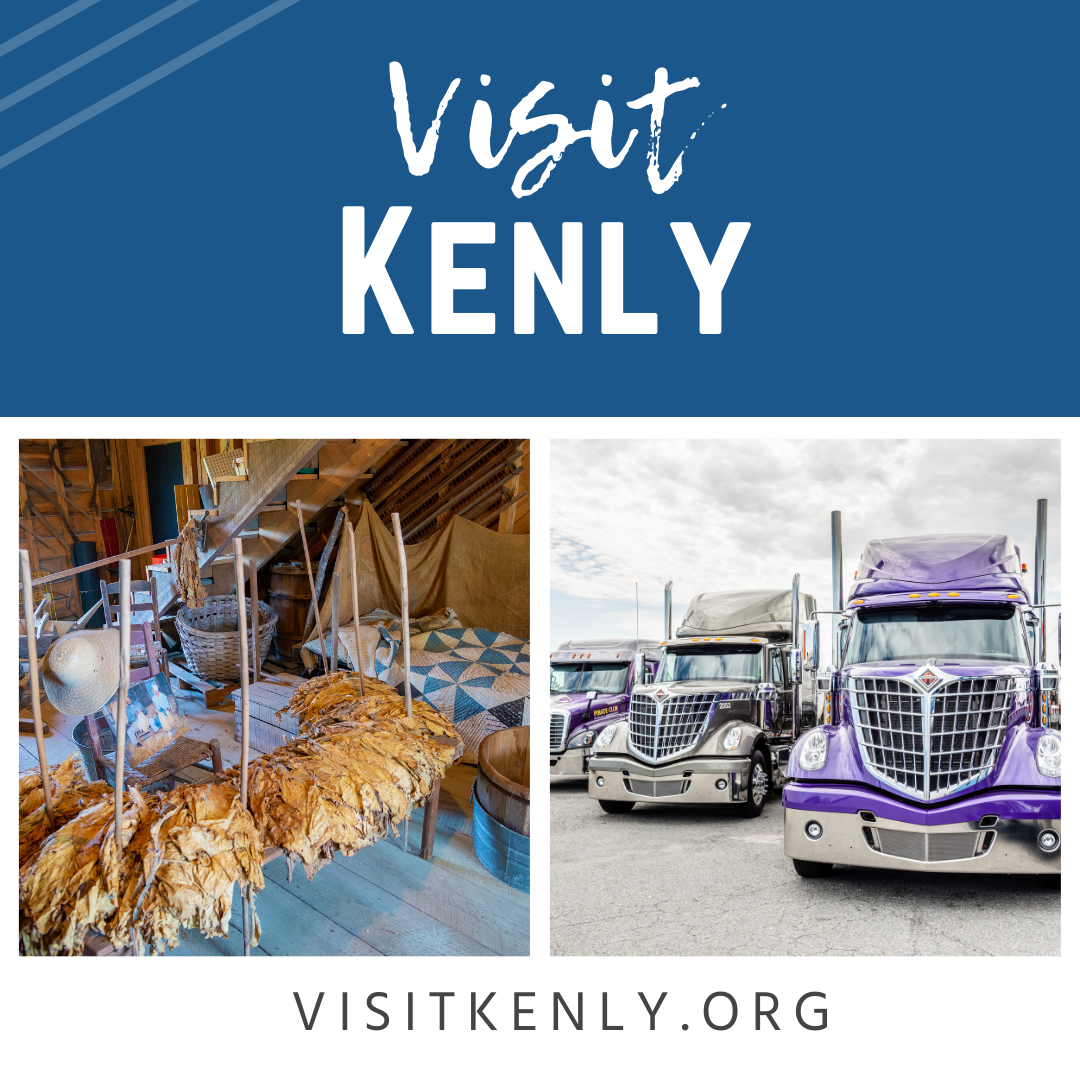 Visit Kenly Banner Ad promoting visitors to see what Kenly, NC has to offer.