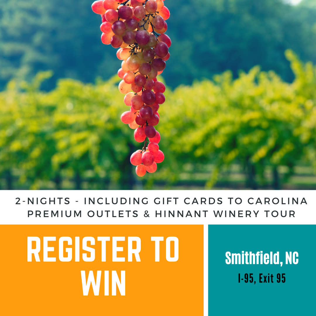 Win a weekend to Smithfield for email marketng campaign.