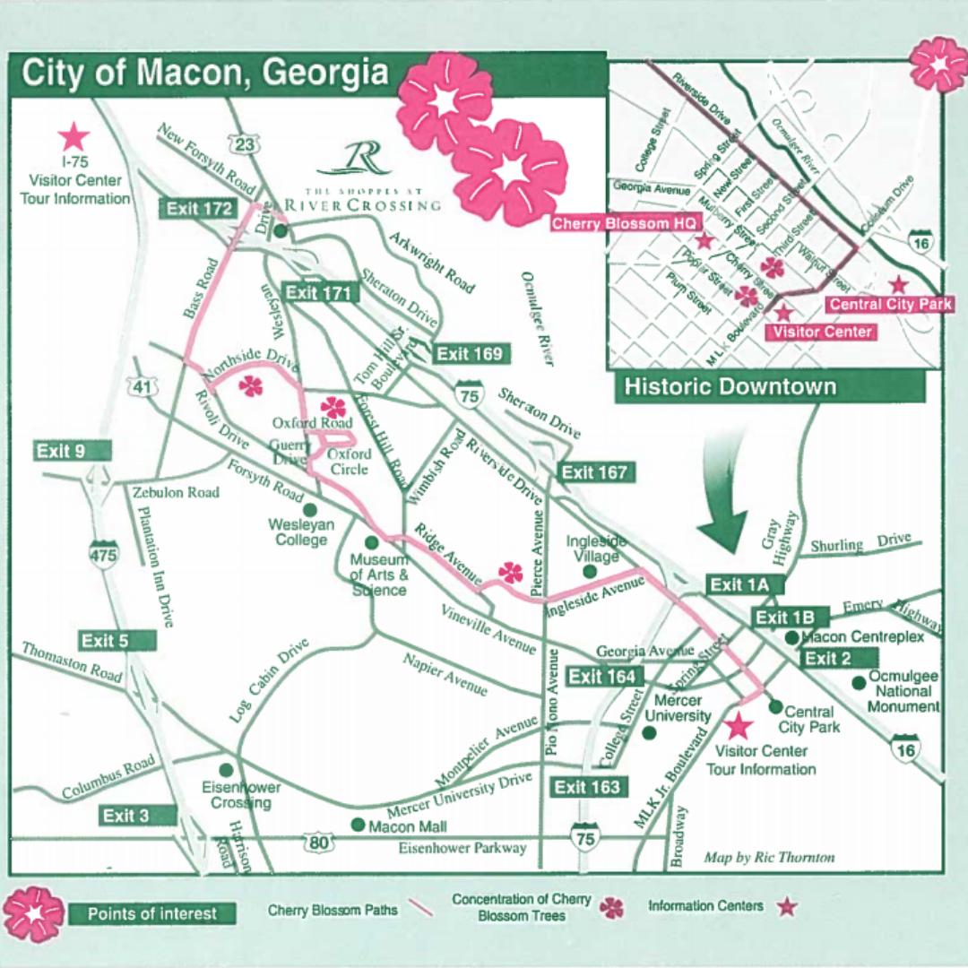 Cherry Blossom Trail Map