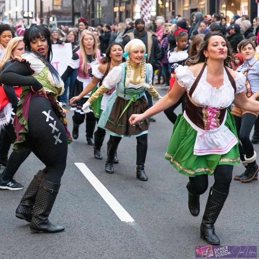 Bockfest parade dance flash fusion