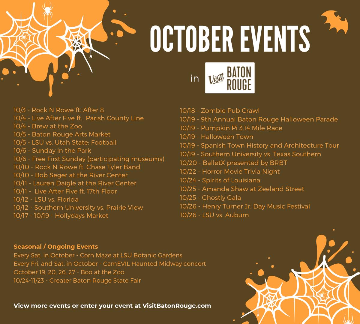 2019 Halloween events