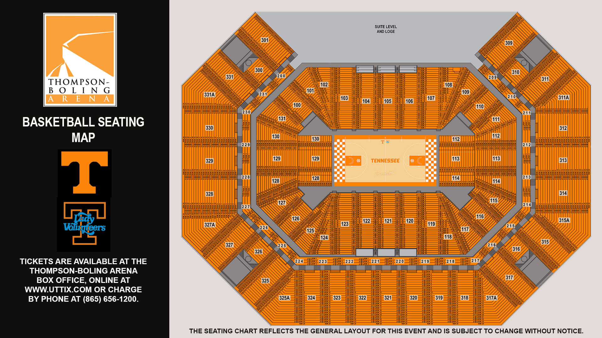 Basketball Seating Map