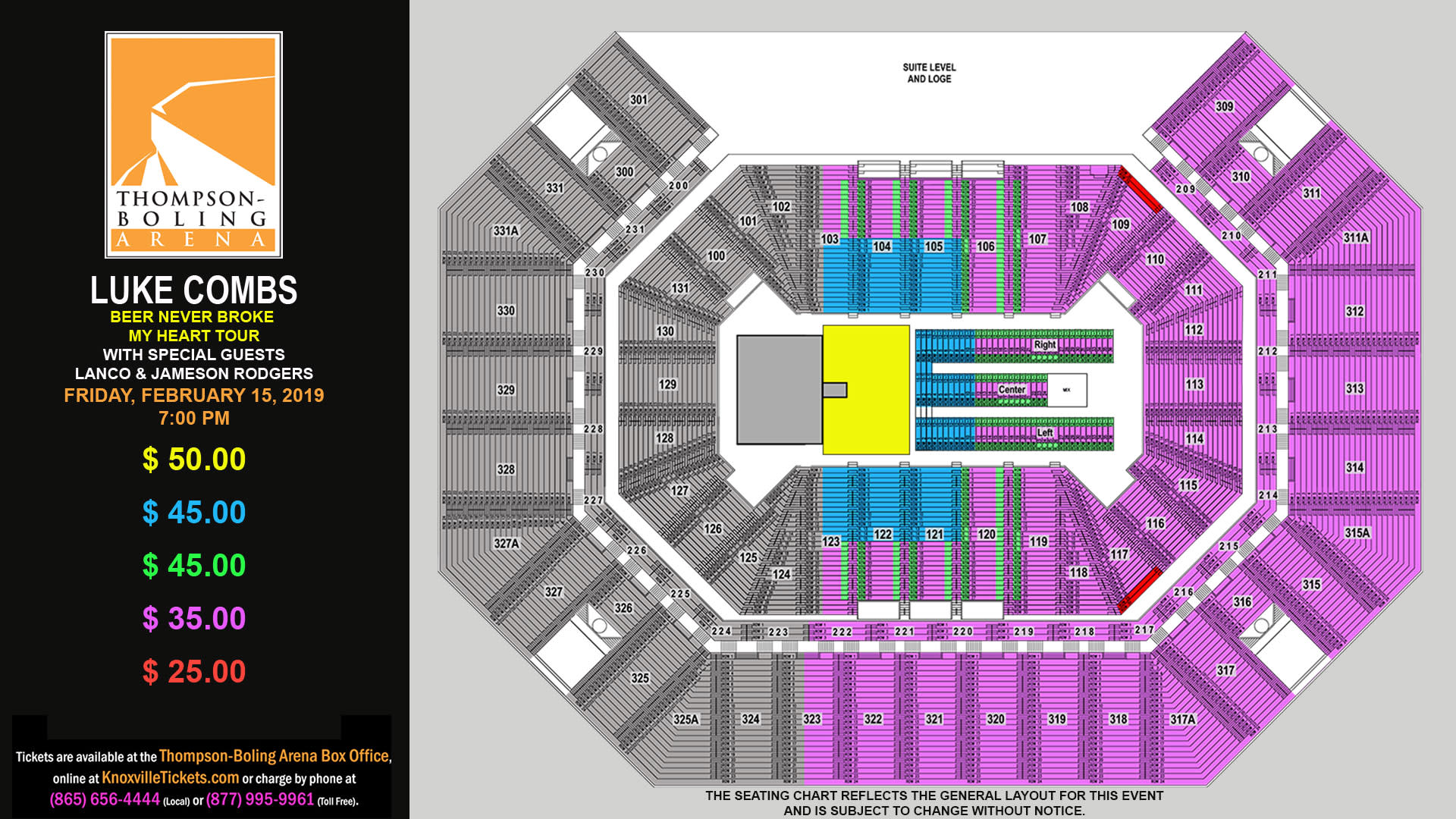 Luke Combs 2019 Seating Map