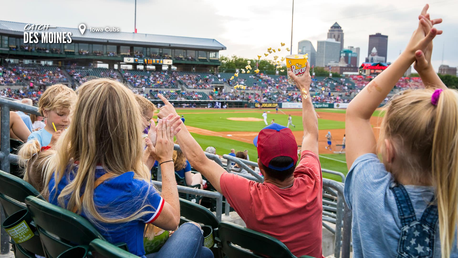 Iowa Cubs Spectators and Stadium Zoom Background