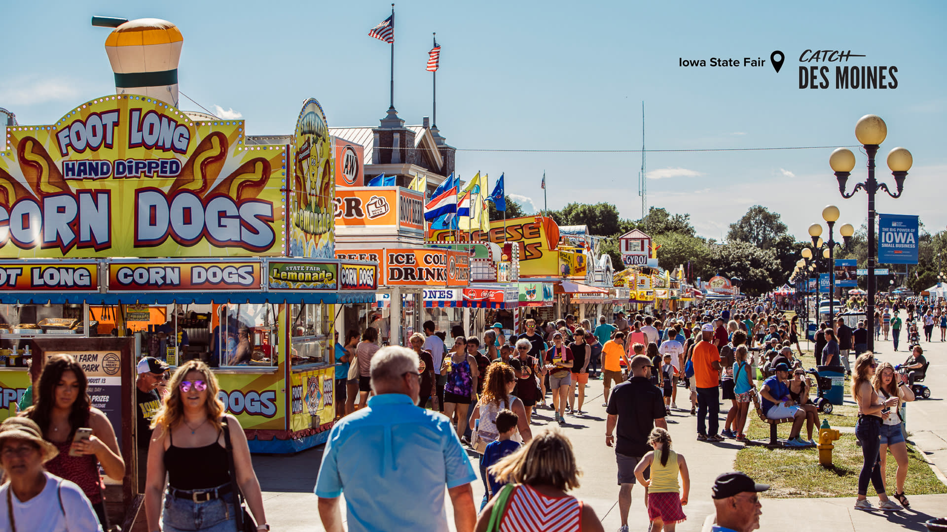 Iowa State Fair Food Stands Zoom Background
